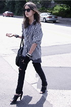 jeans - Gap t-shirt - joe fresh style shirt - shoes - H&M purse - sunglasses