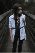 shirt - top - purse - glasses - belt - accessories