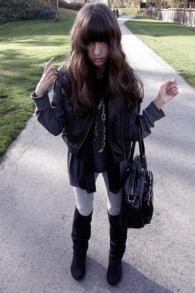 H&M vest - boots - American Apparel sweater - flea market accessories