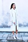Off-white-booties-zara-boots-white-turtleneck-dress