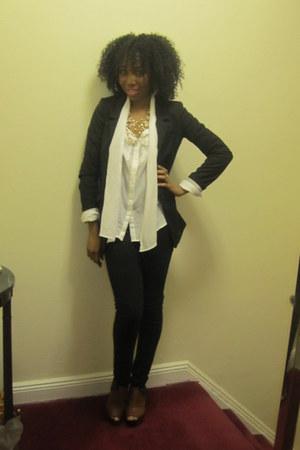 H&M blouse - sam edelman wedges