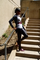 Hollister Co sweater - unknown brand t-shirt - Forever21 leggings - Urban Outfit