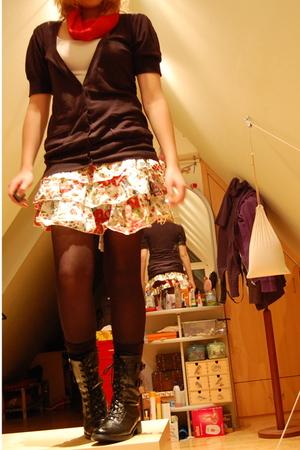 avanti sweater - H&M top - unknown skirt - avanti tights - Graceland boots - my