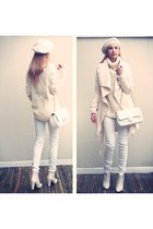 lindex sweater - Chanel bag - GINA TRICOT pants - Zara heels - H&M accessories