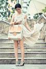 Neutral-topshop-dress-beige-tila-march-bag