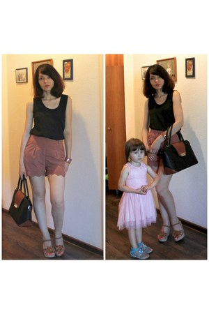 black Olivi bag - bronze 3 suisses shorts