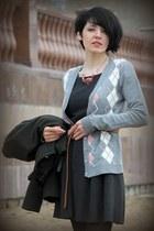 Oggi dress - wool cardigan - beads DIY accessories