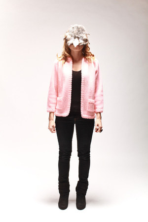 light pink Barbie cardigan