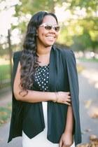 Nasty Gal jacket - Rebecca Minkoff bag - kate spade sunglasses - Schutz pumps