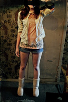 Topshop top - pull&bear jacket - vintage from Ebay jeans - Urban Outfitters boot