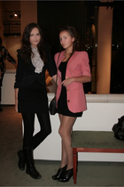 handmade jacket - Zara skirt - vintage blouse - Topshop dress - vintage jacket