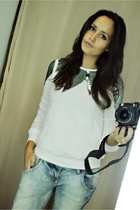 Topshop blazer - Zara jeans