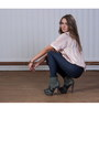 Dark-khaki-buffalo-boots-blue-h-m-leggings-peach-blouse