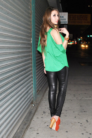 green blouse blouse