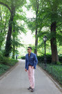 Dark-brown-cole-haan-shoes-blue-zara-blazer-blue-uniqlo-shirt