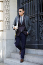 Dark-brown-loafers-allen-edmonds-shoes-gray-topcoat-gant-coat