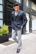 black Bar III blazer - black Allen Edmonds shoes - heather gray Express pants
