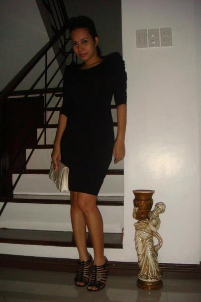 warehouse dress - Prada purse - D&G boots