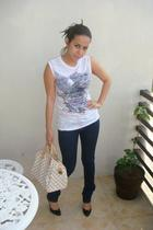 Zara t-shirt - J Brand jeans - Christian Louboutin shoes - LV accessories - H&M