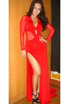 red Sesa dress