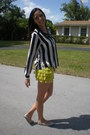 Black-striped-cuffs-forever-21-blazer-lime-green-teared-lace-forever-21-shorts