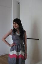 gray thrifted from mont kiara flea market dress - white thrifted from mont kiara