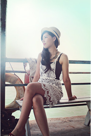 white bkk dress - black bkk intimate