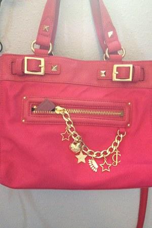 hot pink rectangle bag
