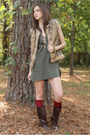 Crimson-leather-riding-mia-boots-olive-green-tunic-bb-dakota-dress