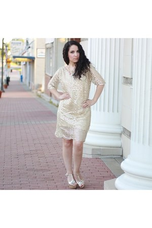 gold sequin HaoDuoYi dress
