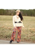 shein sweater sweater - paisley pants pants - necklace