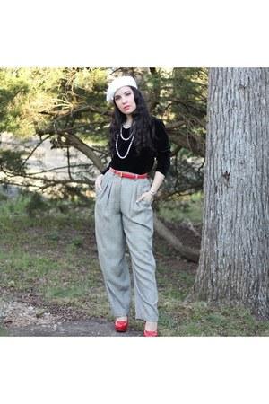 hat - plaid pants pants