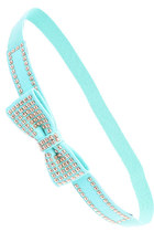 Turquoise Studded Bow Belt