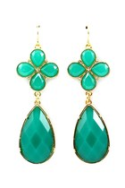 green emerald Libi & Lola earrings
