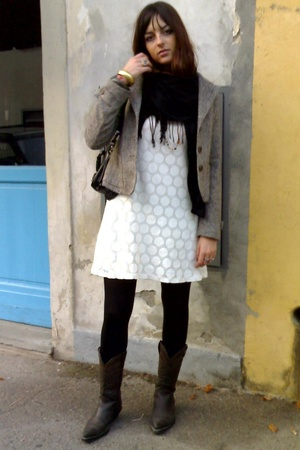 H&M dress - vintage jacket - vintage shoes