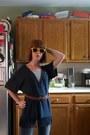 Blue-capri-delias-shorts-yellow-dollar-store-sunglasses