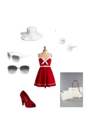 Pin Up Girl Clothing dress - sun hat Nordstrom hat - the cypress The Extras bag