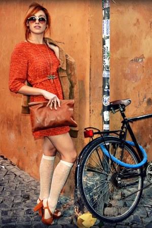 H&M dress - max and co shoes - American Apparel bag - Hugo Boss sunglasses