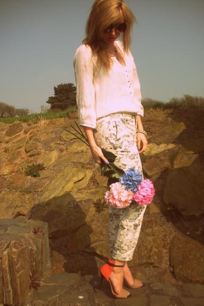 Zara pants - coloured Zara sandals
