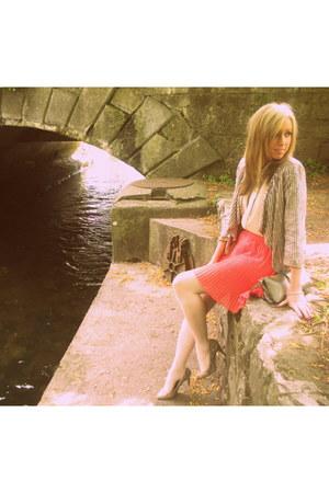floaty River Island skirt - sequins River Island jacket - collared Topshop shirt