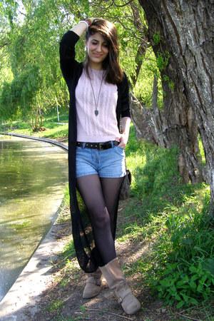 Zara boots - Accessorize bracelet - pink top