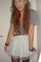 Indiska skirt - AA t-shirt - H&M belt - H&M tights