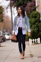 Forever 21 jacket - tortoise J Crew necklace - flax Nine West pumps