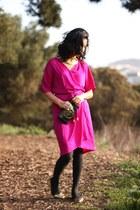 Diane Von Furstenberg dress - Hayden-Harnett bag - gold Zara flats
