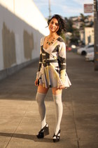Seneca Rising dress - Jeffrey Campbell wedges - Urban Outfitters stockings - hou