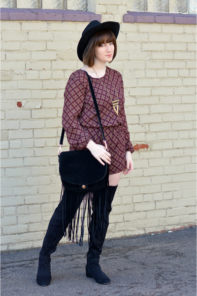 Forever 21 Hats, Black Next Boots, H&M Bags, Mustard ...
