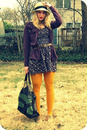 oxford Forever 21 shoes - mustard the gap tights - Urban Outfitters bag - leathe