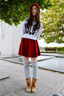 Tawny-pomme-passion-boots-ruby-red-zipia-hat-heather-gray-topshop-sweater