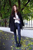 black zipia boots - black zipia coat - black zipia pants