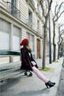 Magenta-naf-naf-coat-black-asos-bag-light-pink-zipia-pants